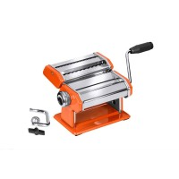 Pasta Maker,Orange/Chrome Steel Body,Stainless Steel Blade