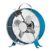 Retro Desk Fan,2 Speeds, Blue