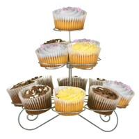 Cupcake Stand,Silver Wire,3 Tier/13 Cups - Big Living
