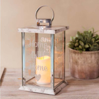 HESTIA? Glass Marble Effect LED Candle Lantern
