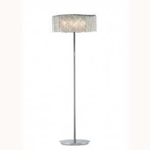 Fabio Floor Lamp 4 Light Polished Chrome/Crystal
