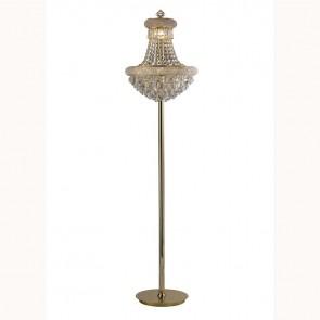 Alexandra Floor Lamp 8 Light French Gold/Crystal
