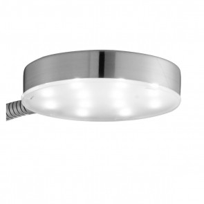 Searchlight Decorative LED ROUND FLEXI-HEAD FLOOR LAMP, Silver and Adjustable