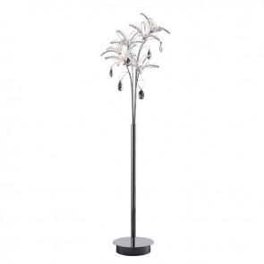 Kenzo Floor Lamp 6 Light Polished Chrome/Crystal